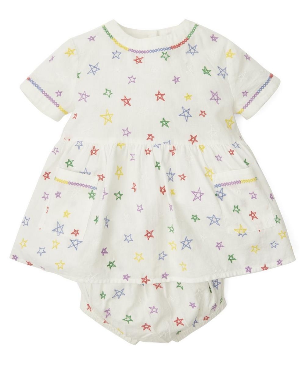 Stella McCartney Kids - Stars Organic Cotton Dress and Bloomer Set 3-24 Months