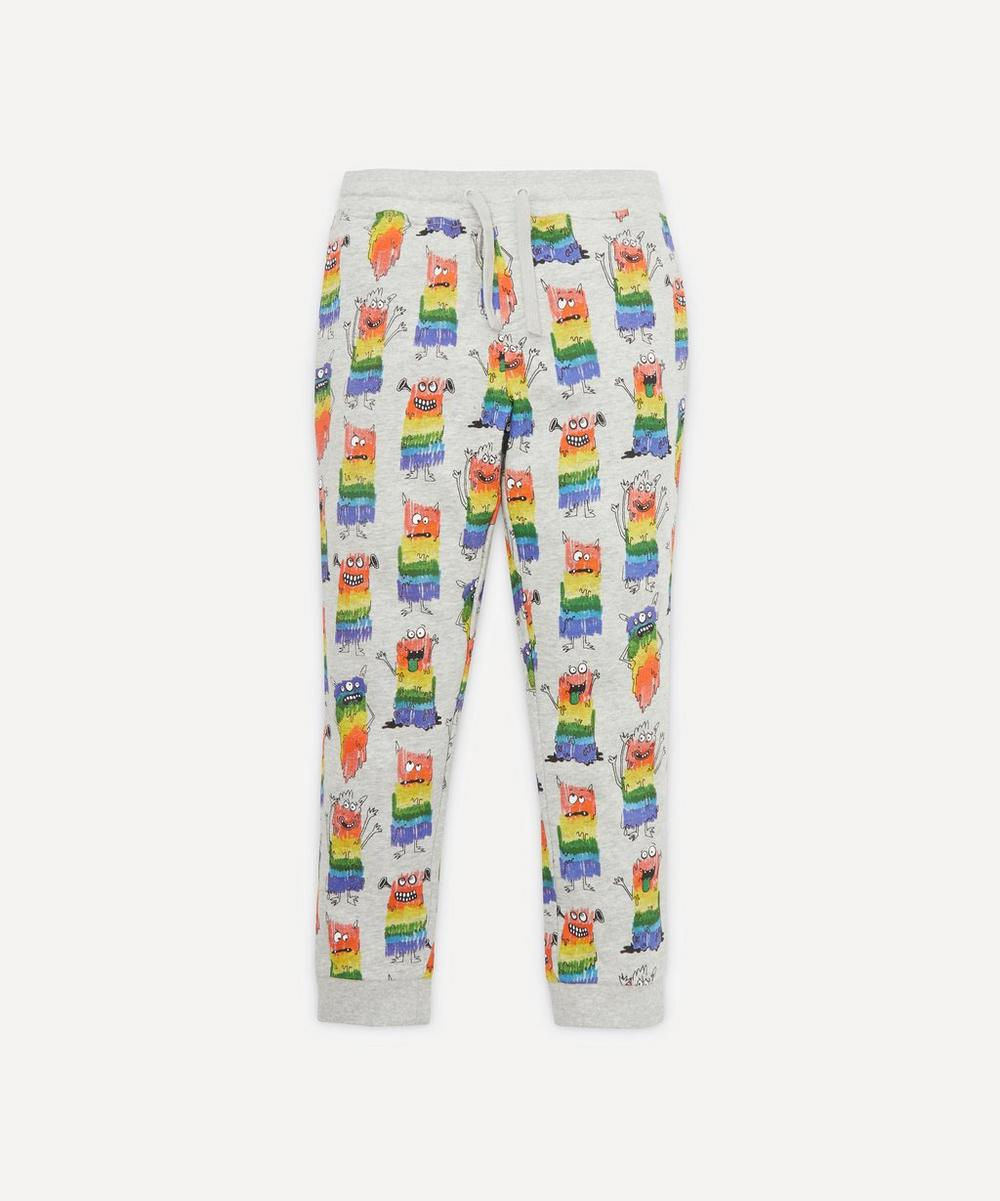 Stella McCartney Kids - Rainbow Monsters Organic Cotton Fleece Trousers 2-8 Years