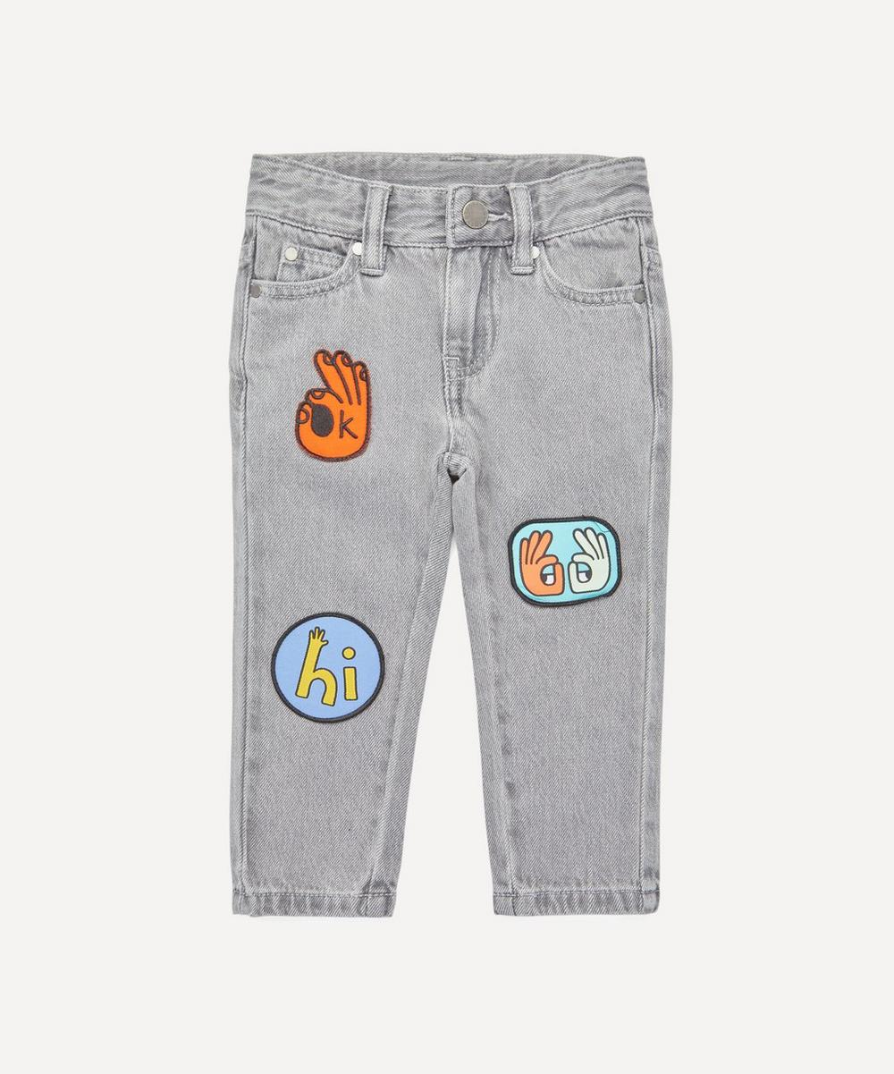 Stella McCartney Kids - Denim Trousers with Badges 2-8 Years