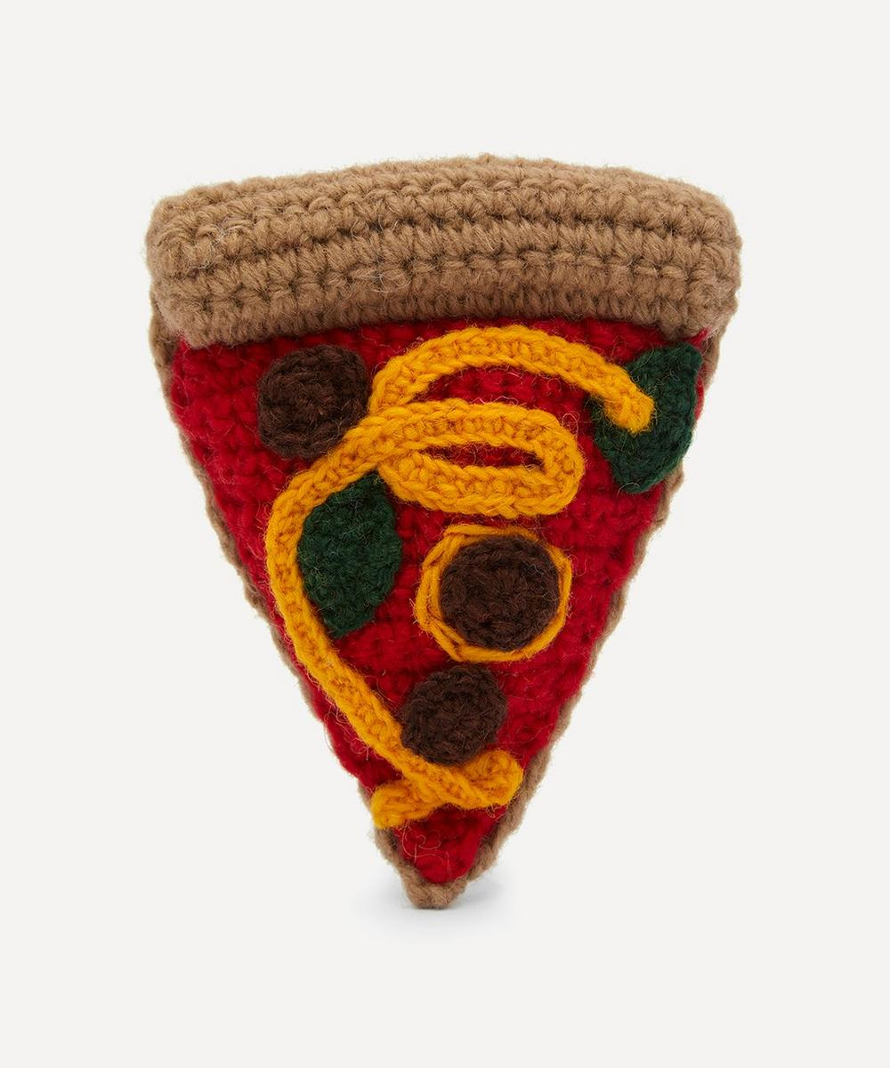 Ware of the Dog - Hand-Crocheted Pizza Toy