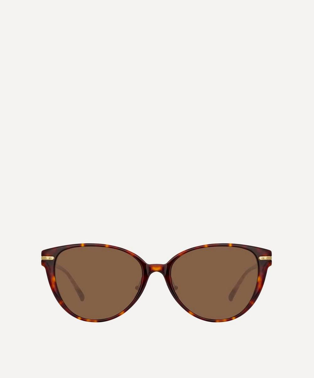 Linda Farrow - Linear Arch Cat-Eye Sunglasses