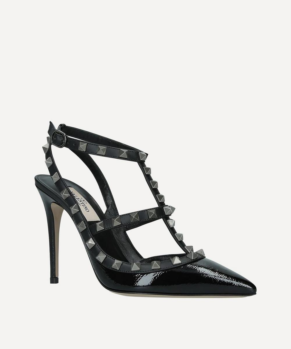 Valentino Garavani - Rockstud 100 Patent-Leather Courts