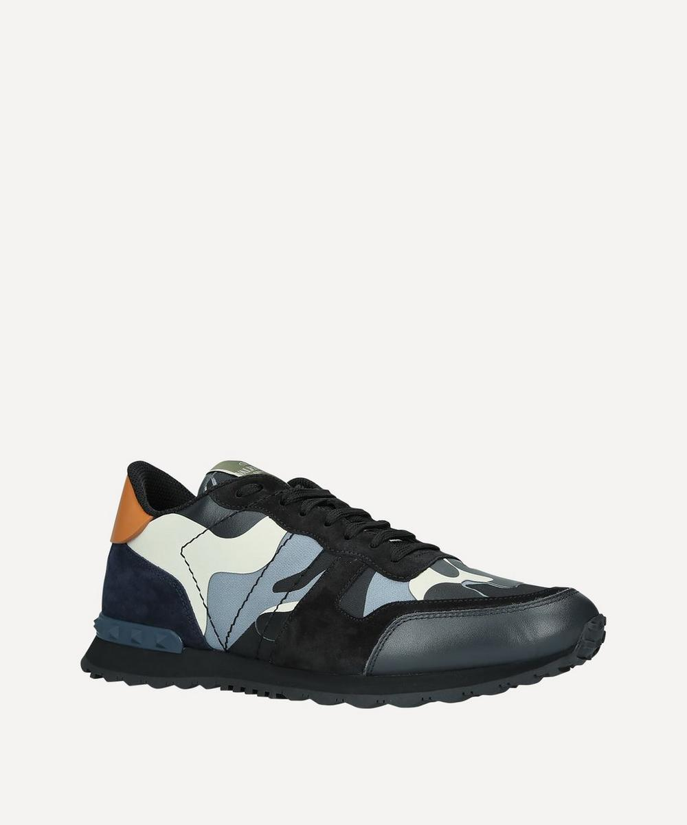 Valentino - Rockrunner Leather Camouflage Sneakers