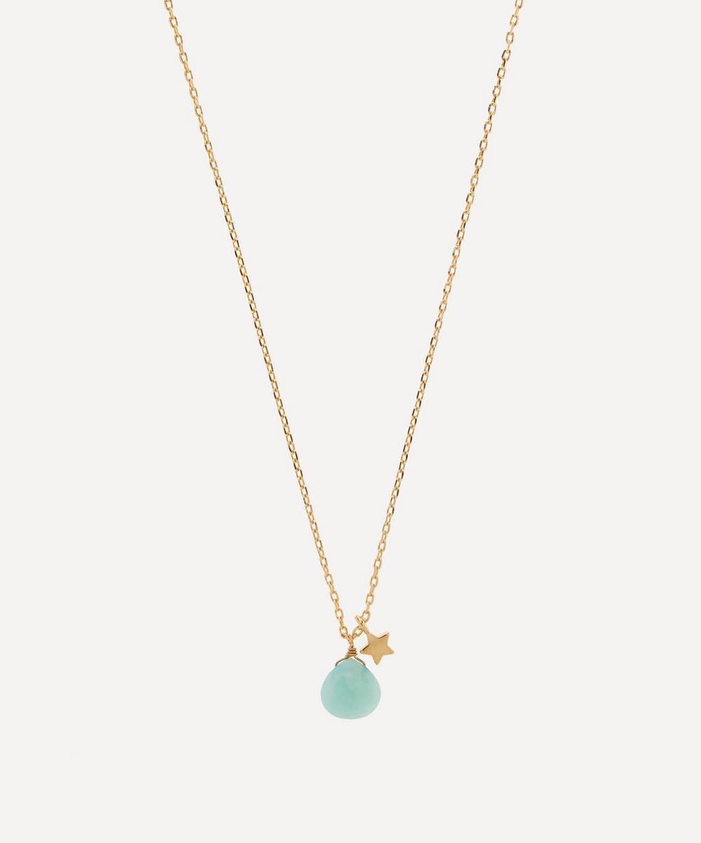 Estella Bartlett - Gold-Plated Amazonite Star Double Pendant Necklace