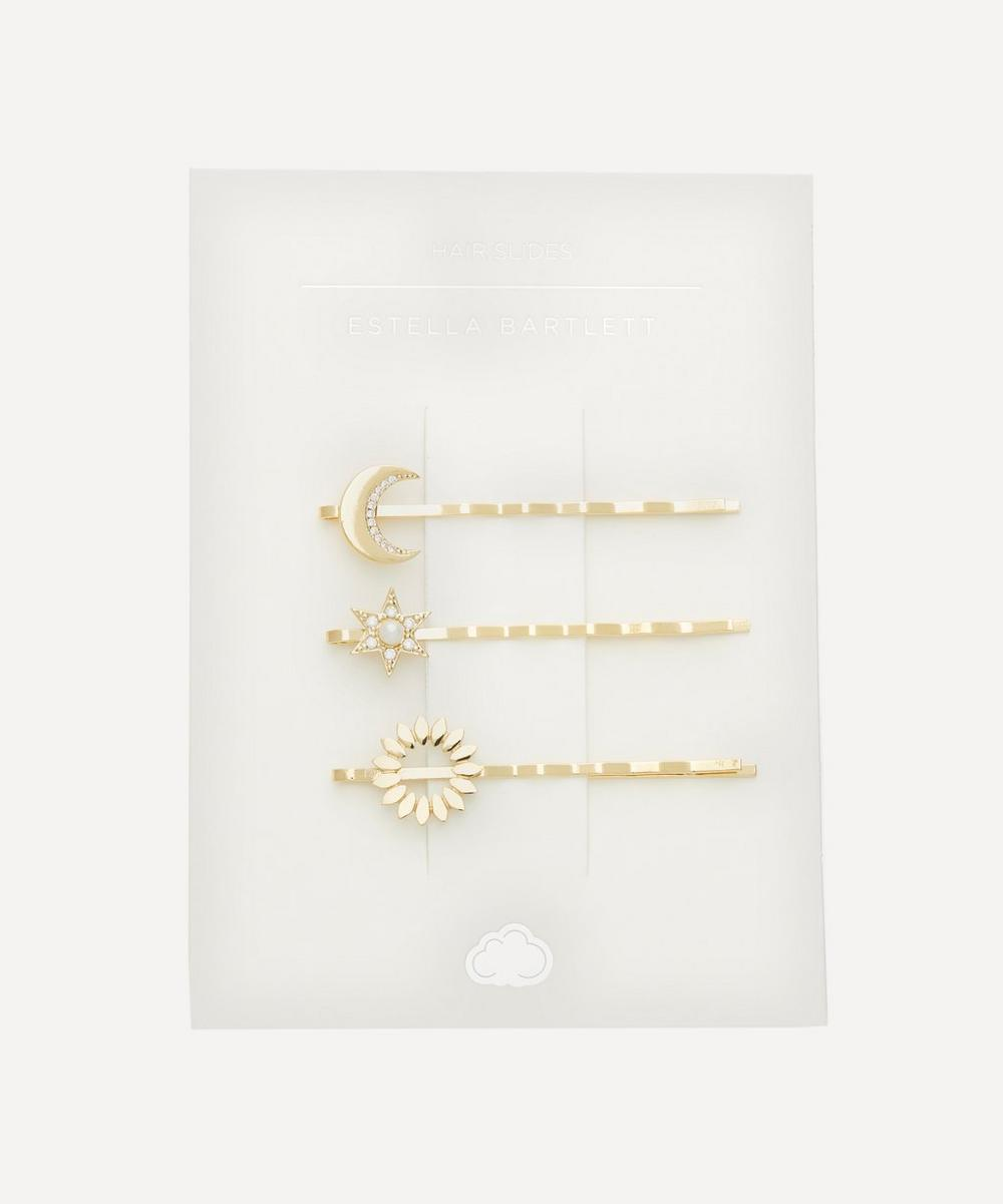 Estella Bartlett - Gold-Plated Celestial Hair Slides Set of Three