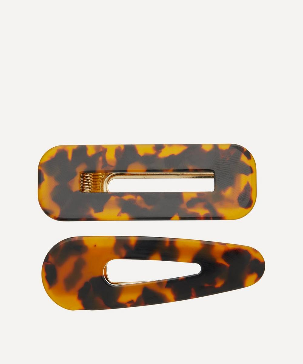 THE UNIFORM - Tortoiseshell Hair Clips Set of Two