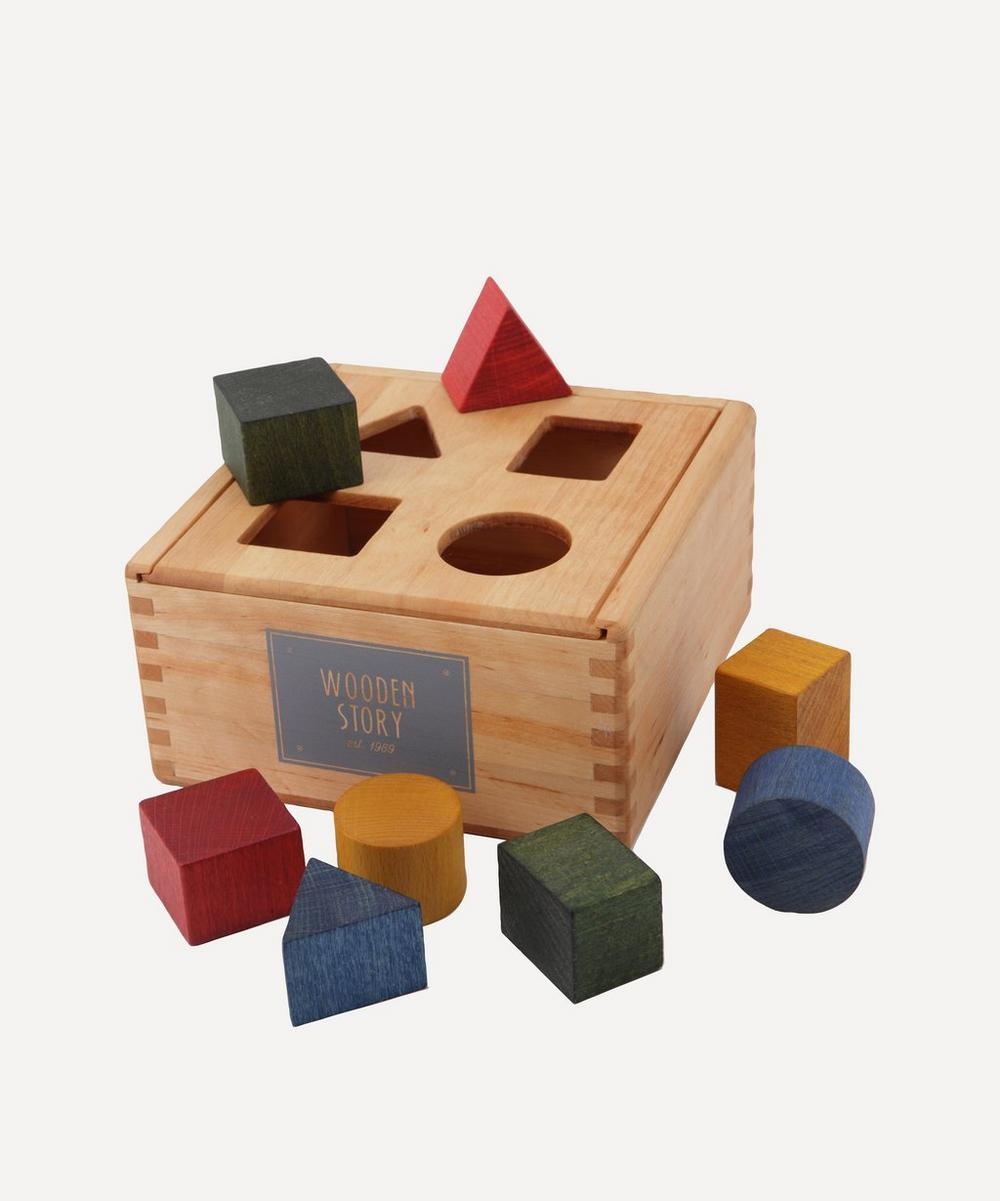 Wooden Story - Rainbow Shape Sorter Box