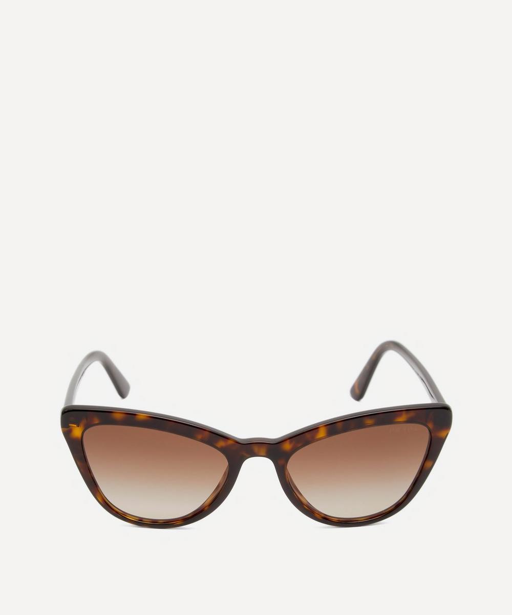 Prada - Oversized Cat-Eye Acetate Tortoiseshell Sunglasses