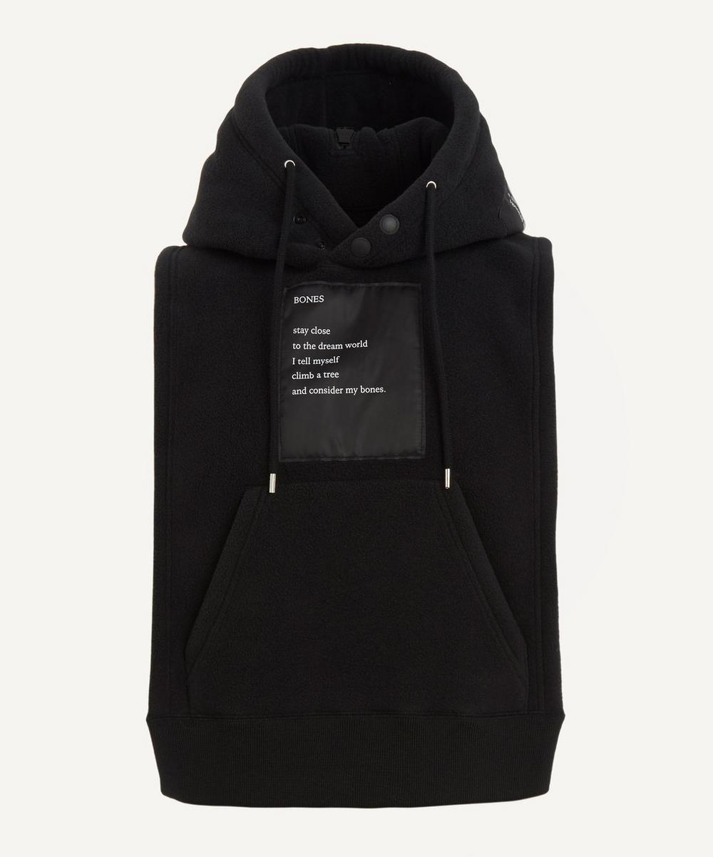 The Soloist - Printed Satin-Trimmed Sleeveless Fleece Hoodie