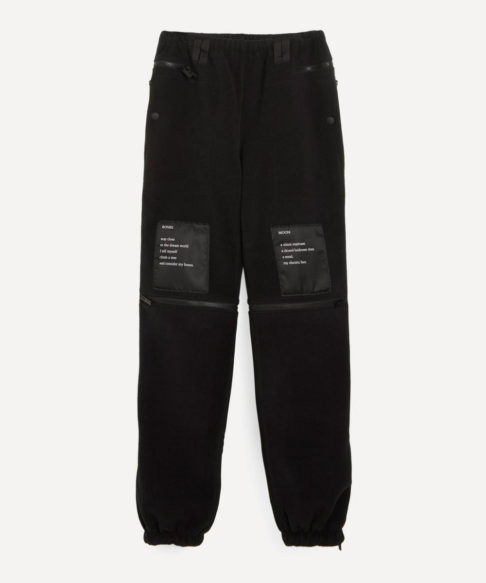The Soloist - Printed Satin-Trimmed Fleece Track Pants