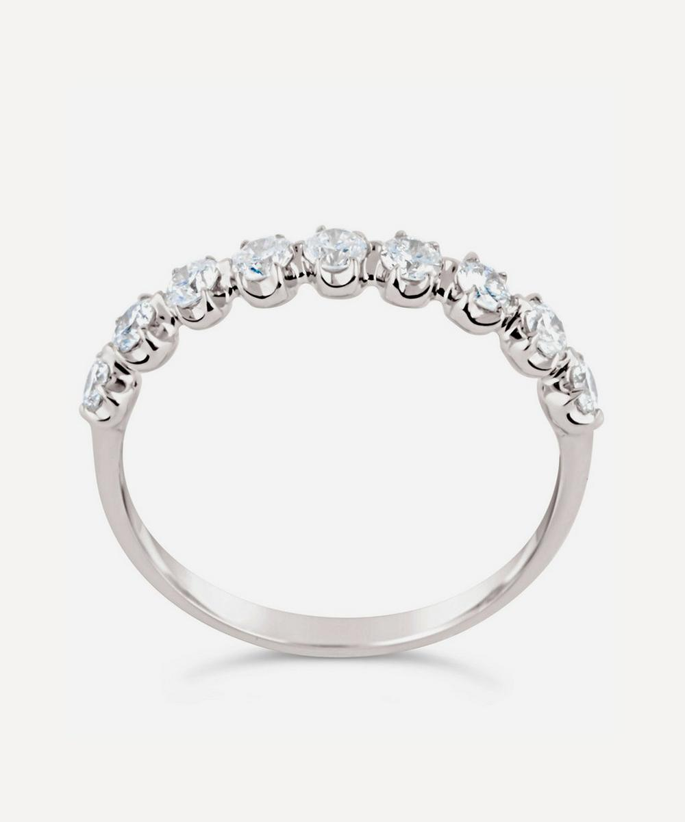 Dinny Hall - White Gold Elyhara Diamond Half Eternity Ring