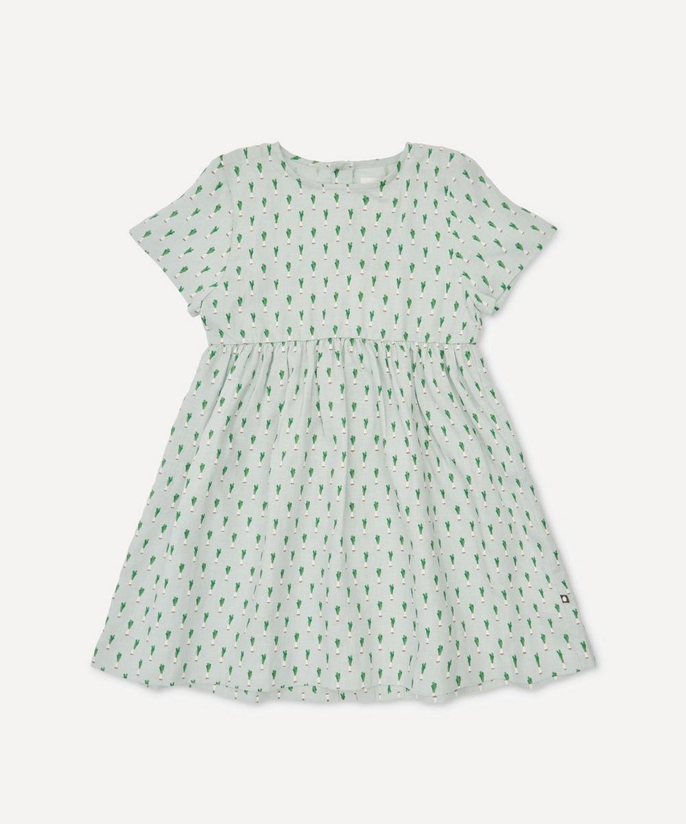 Oeuf NYC - Short-Sleeved Leek Print Dress 4-8 Years