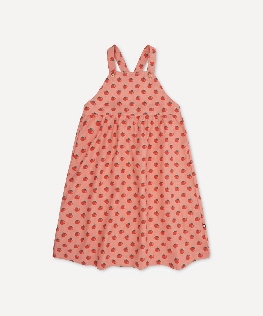Oeuf NYC - Overall Tomato Print Dress 4-8 Years