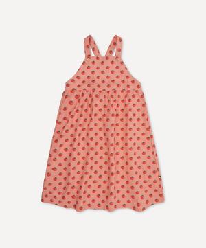 Overall Tomato Print Dress 4-8 Years