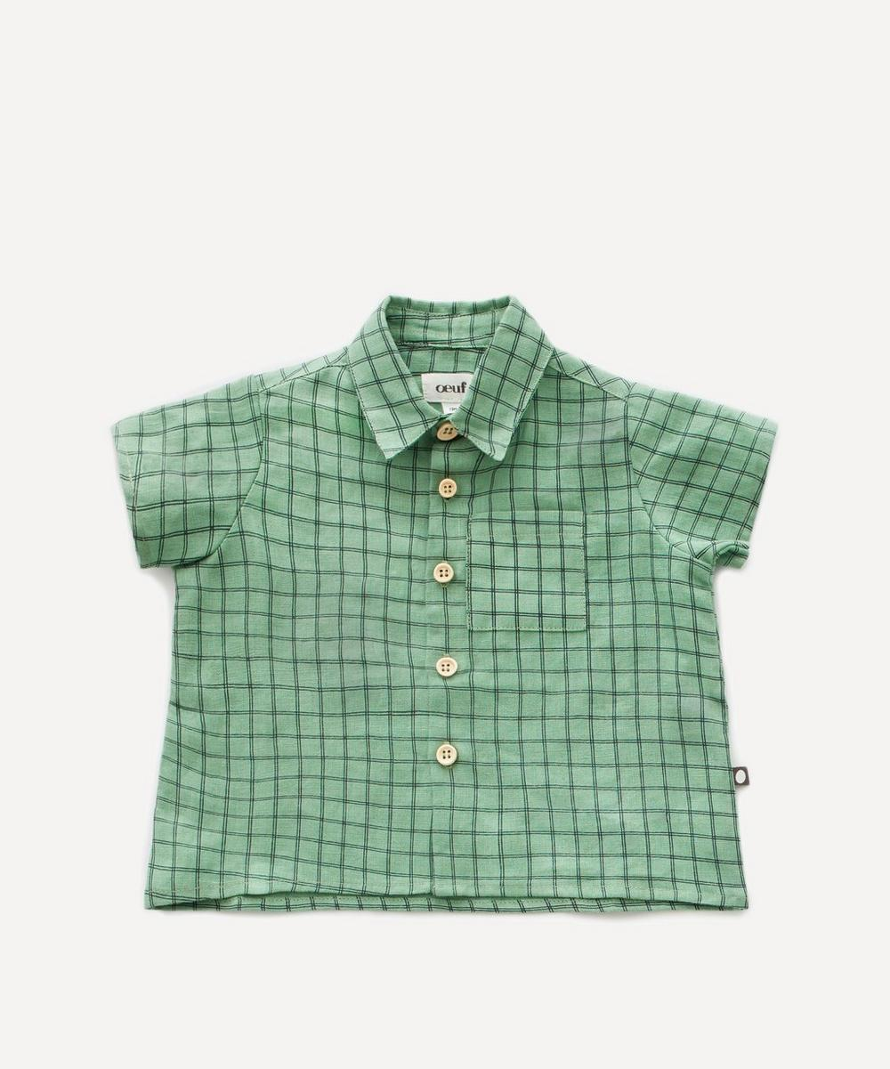 Oeuf NYC - Check Print Button-Down Shirt 2 Years