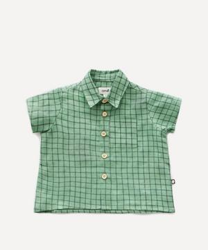 Check Print Button-Down Shirt 2 Years