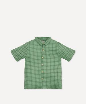 Check Print Button-Down Shirt 4-8 Years