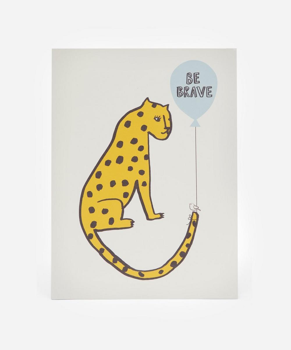 Karin Akesson - Leopard Be Brave Print