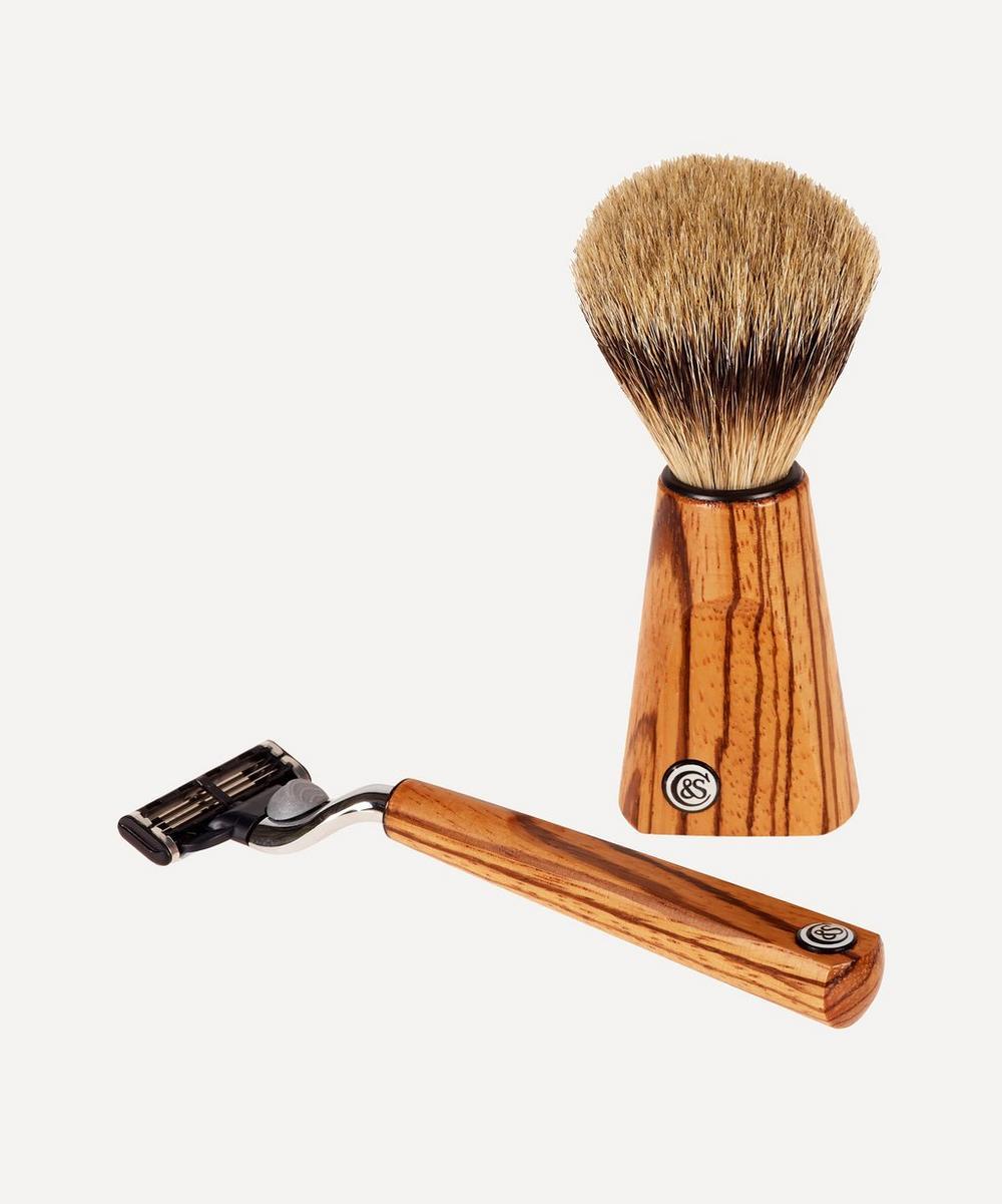 Czech & Speake - Zebrano Wood Shaving Set