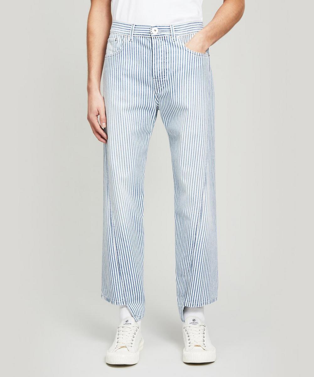 Lanvin - Striped Twisted-Seam Jeans