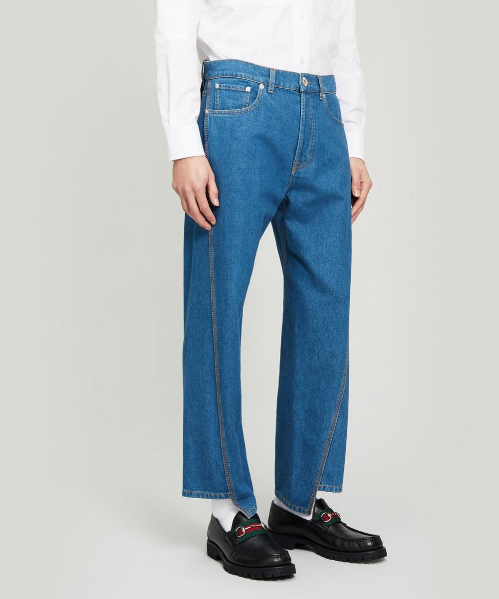 Lanvin - Washed Twisted-Seam Jeans