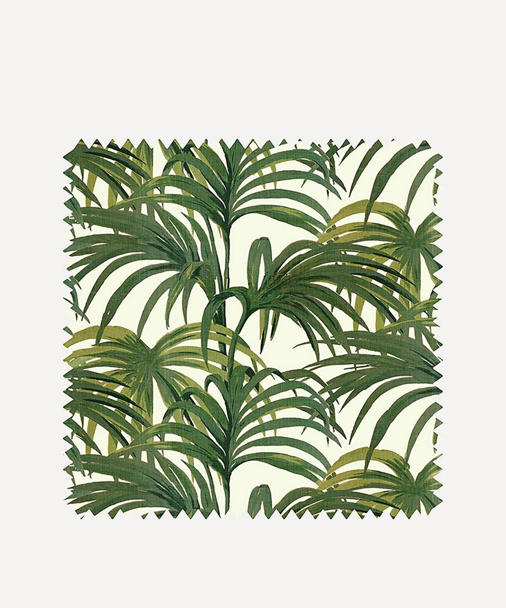 House of Hackney - White & Green Palmeral Wallpaper Sample Swatch