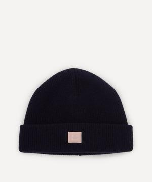 Face Wool-Blend Beanie Hat
