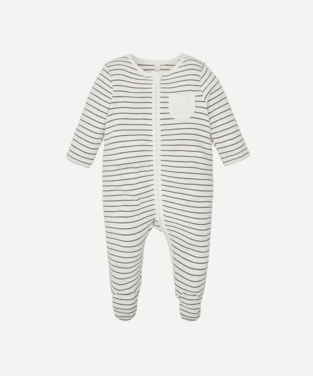 MORI - Stripe Zip-Up Sleepsuit 0-24 Months