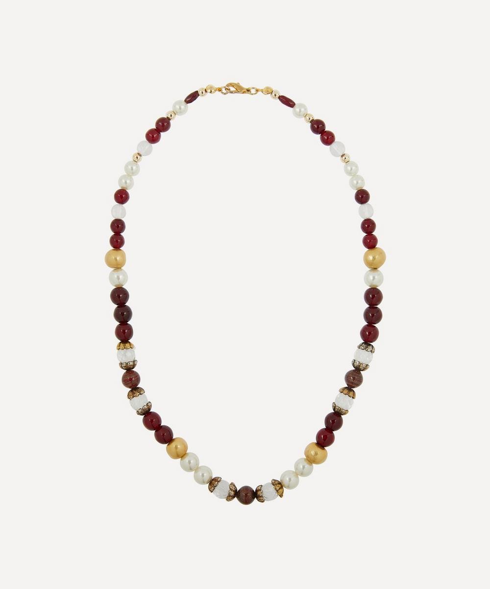 Designer Vintage - 1970s Faux Gemstone Beaded Necklace