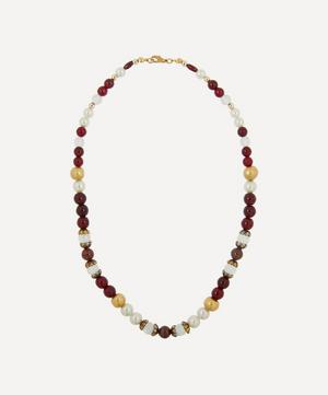 1970s Faux Gemstone Beaded Necklace