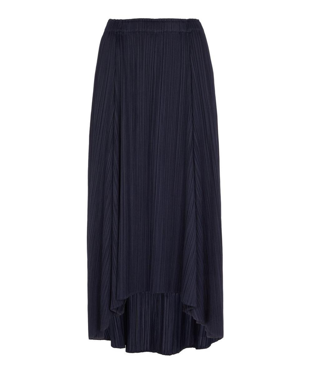 Pleats Please Issey Miyake - Sliced Full Midi-Skirt