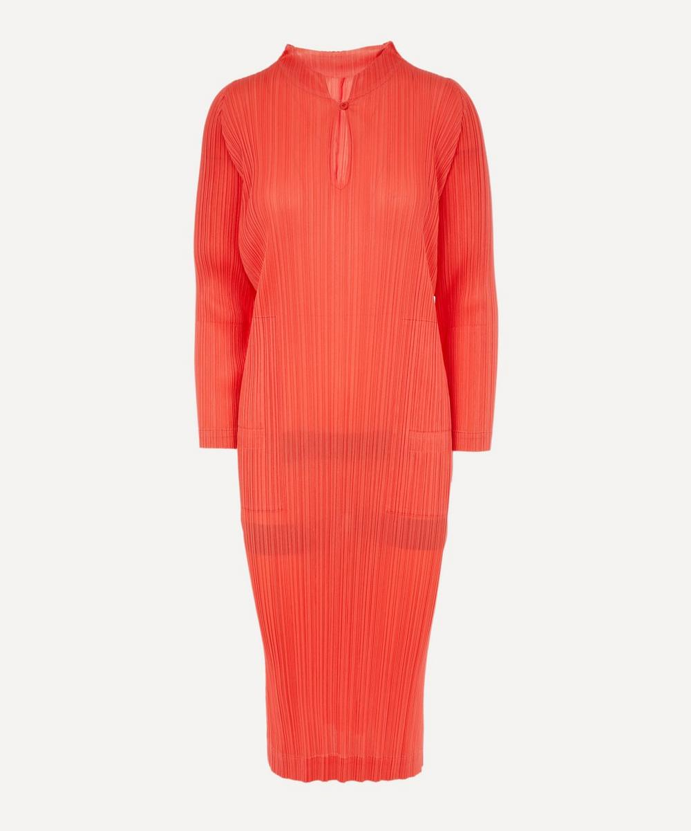 Pleats Please Issey Miyake - Monthly Colours Mandarin-Collar Dress