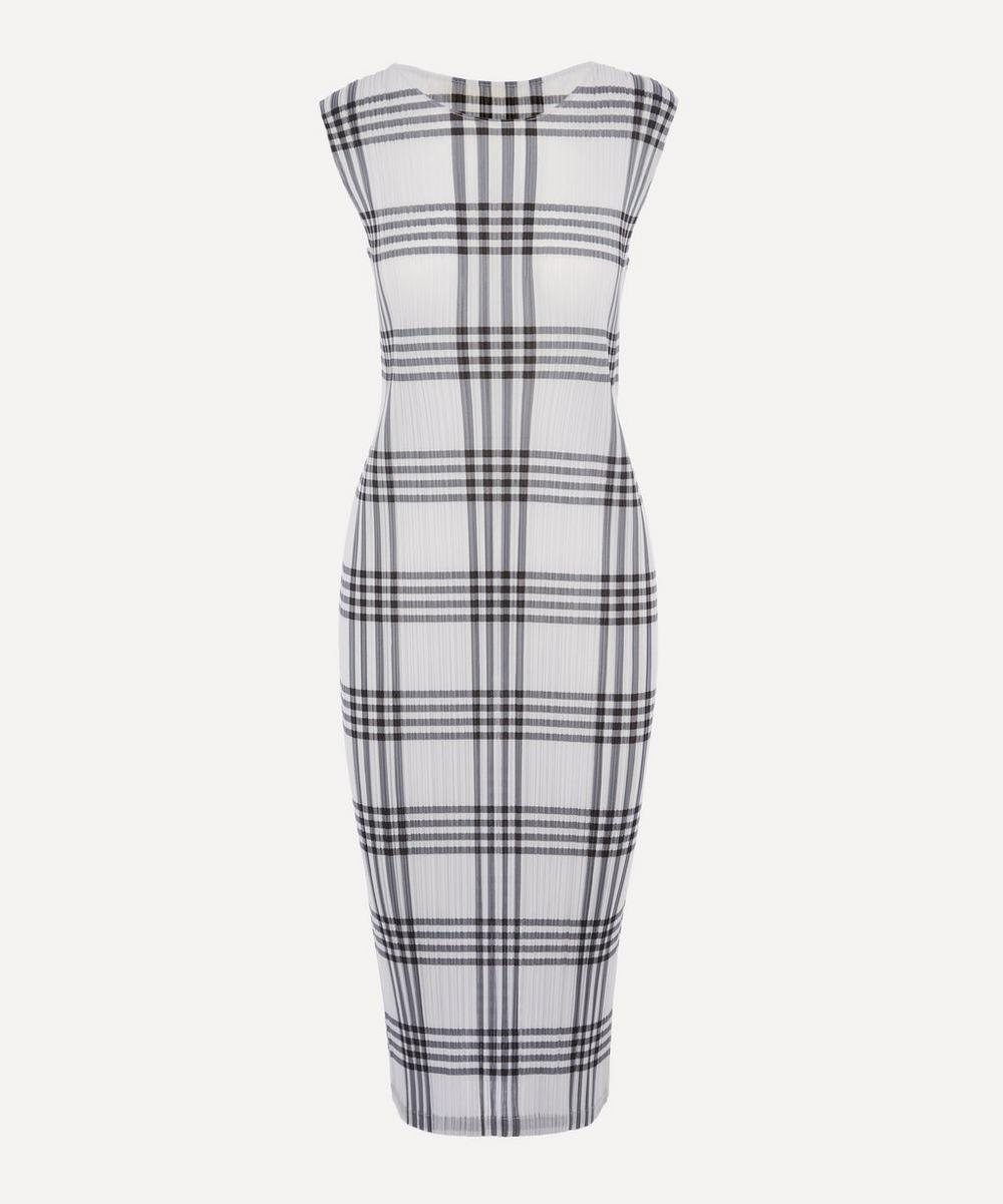 Pleats Please Issey Miyake - Sleeveless Check Dress