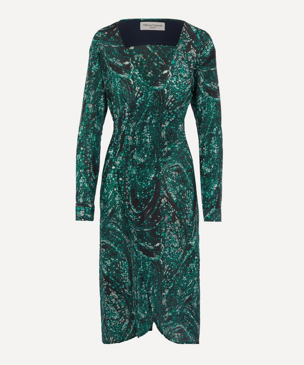 Officine Générale - Clea Printed Silk Wrap Dress