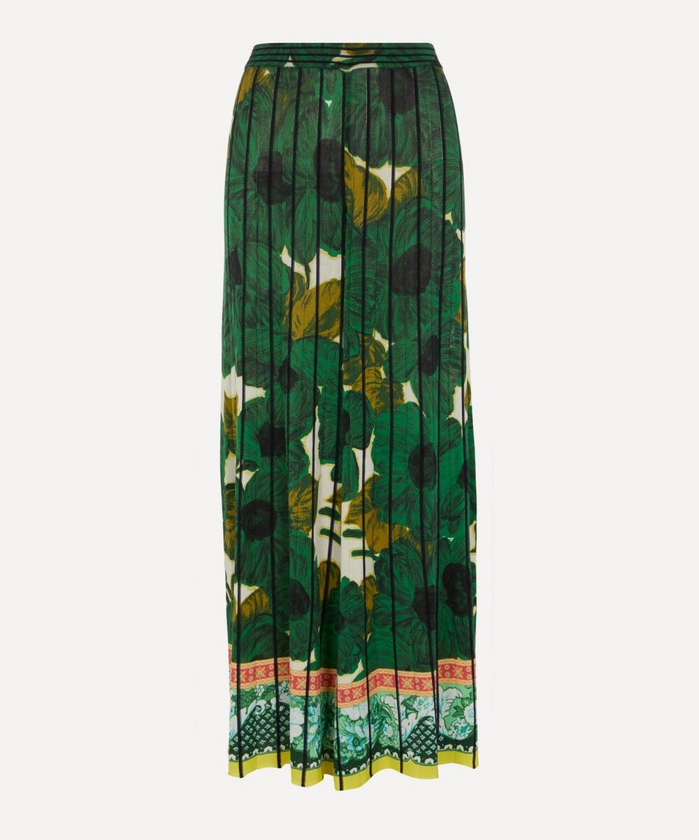 Etro - Green Flowers Knit Trousers