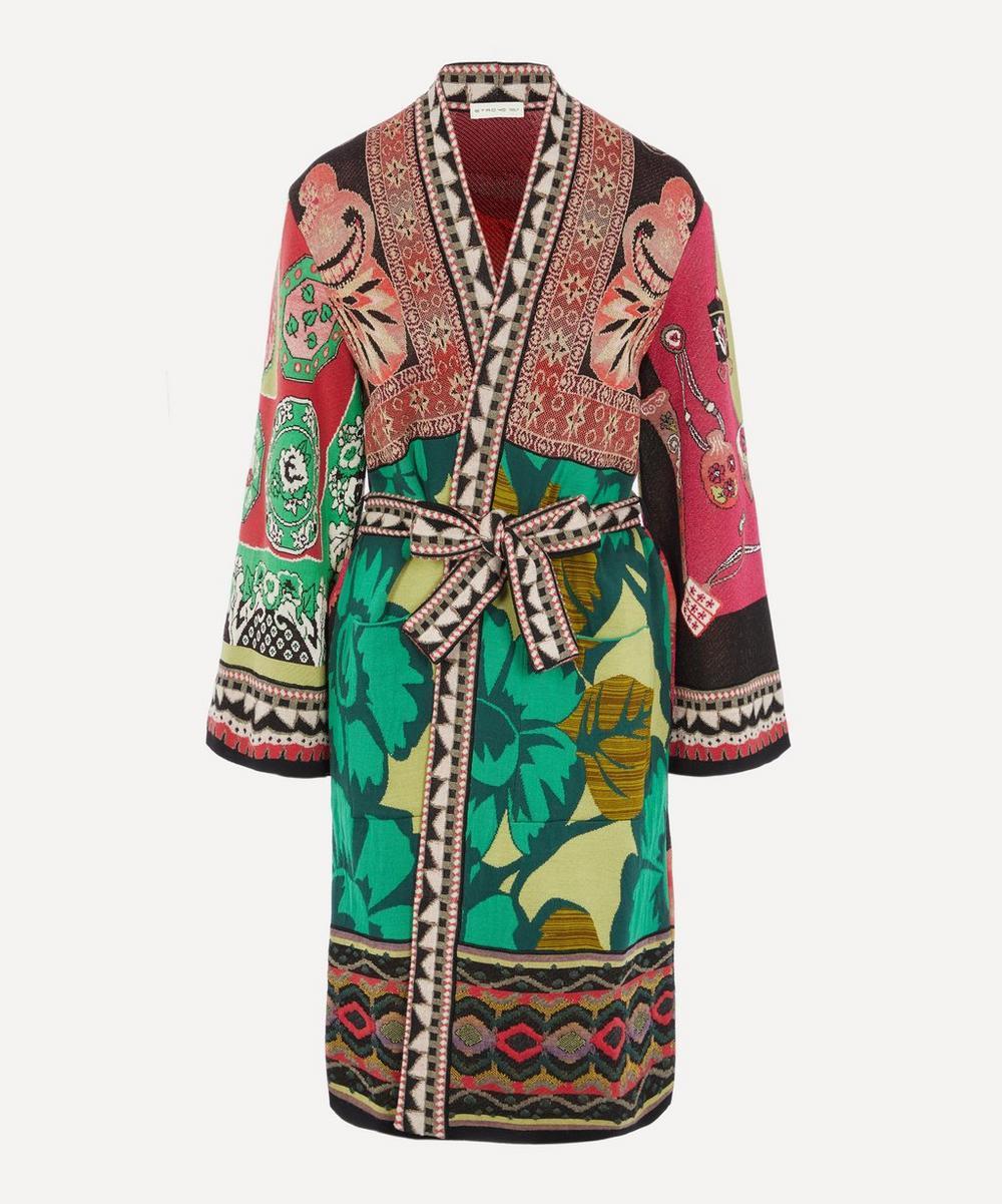 Etro - Green Flowers Kimono Jacket