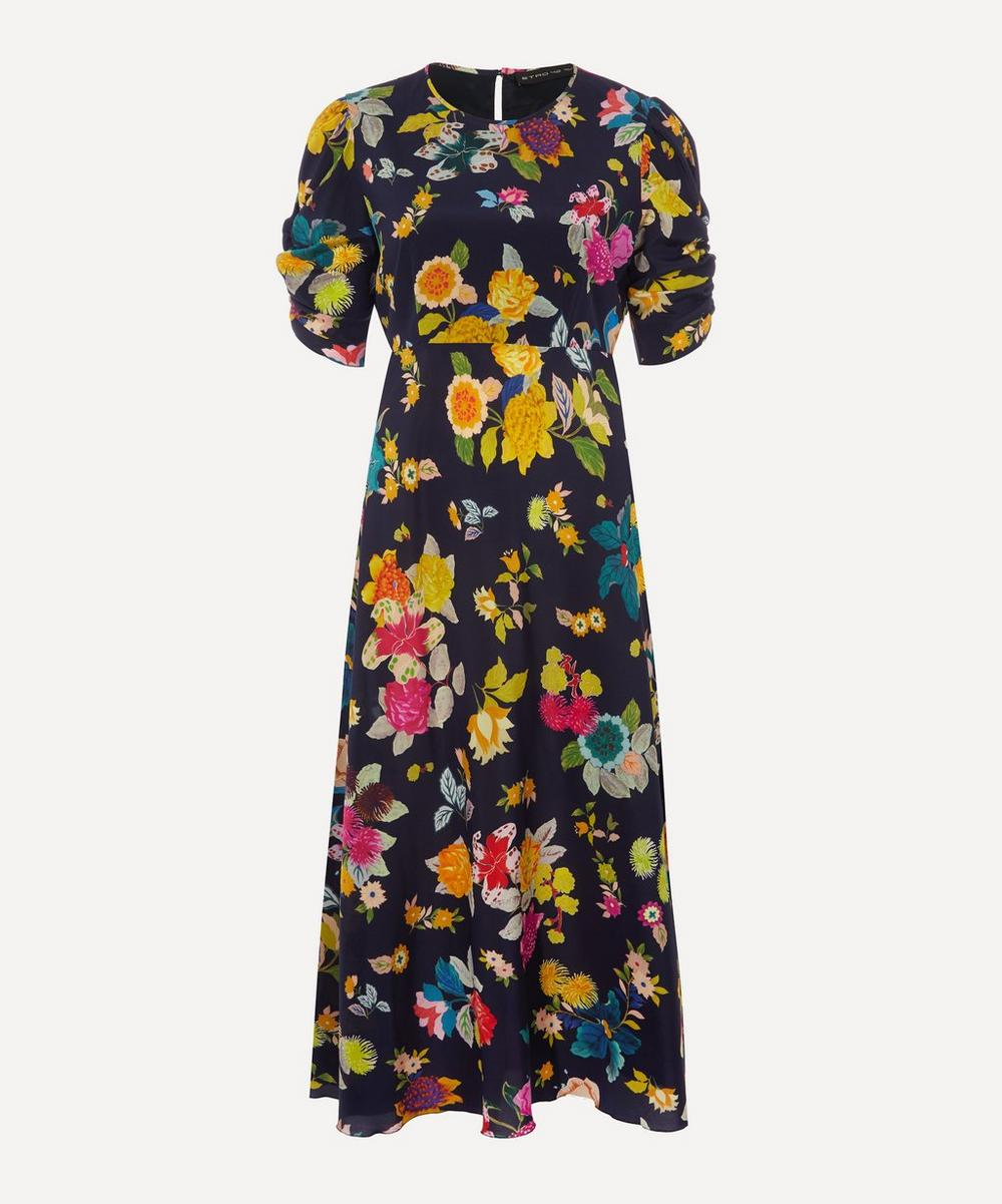 Etro - Floral Stretch-Silk Crêpe Midi-Dress