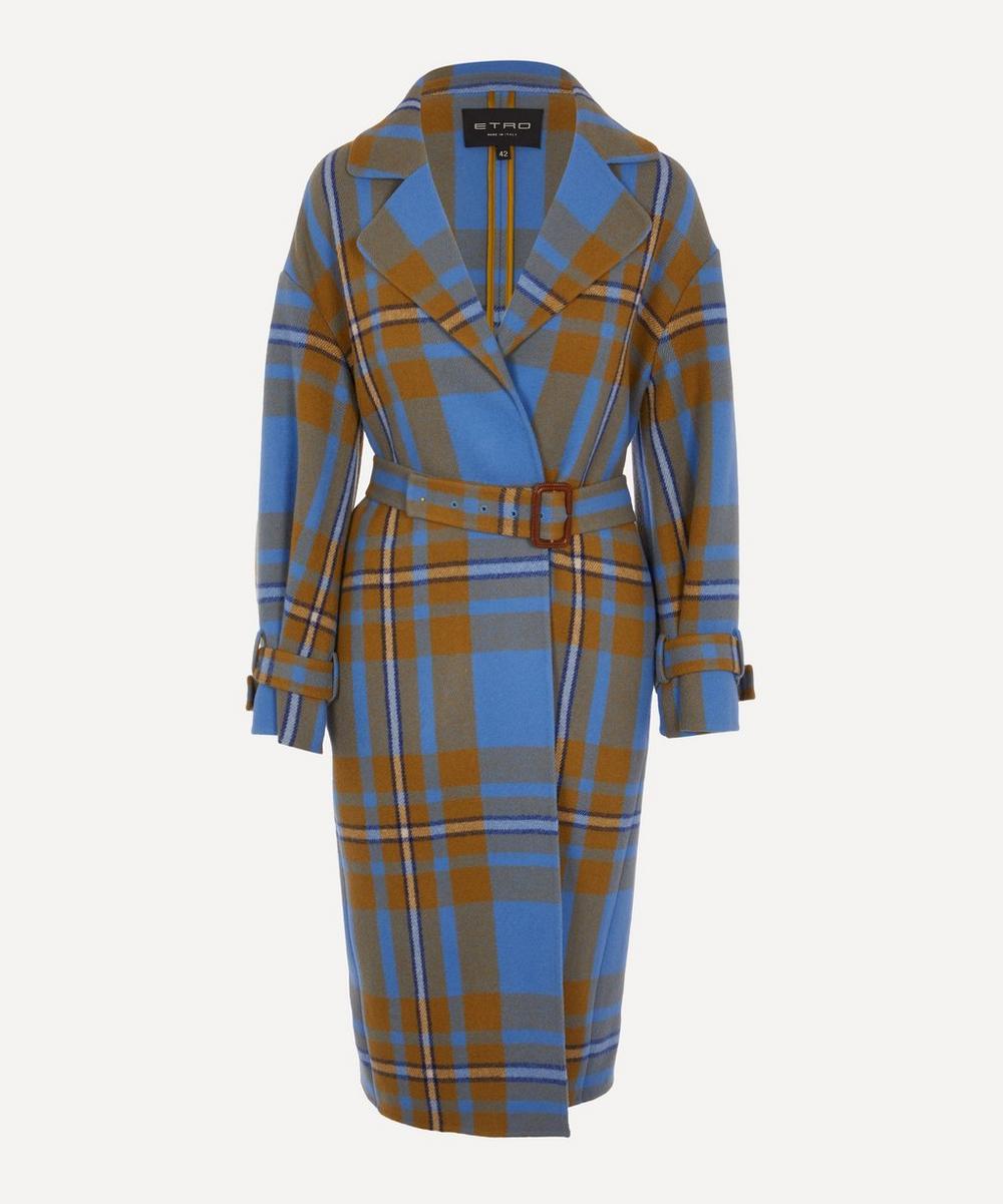 Etro - Oversized Check Coat