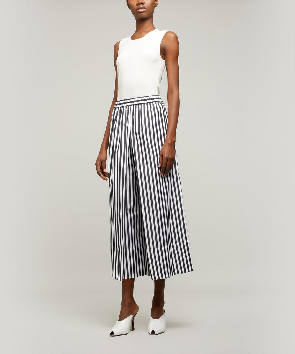 Rosetta Getty - Striped Wide-Leg Culottes