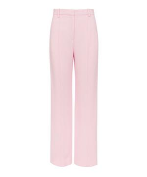 Pintuck Straight-Leg Trousers