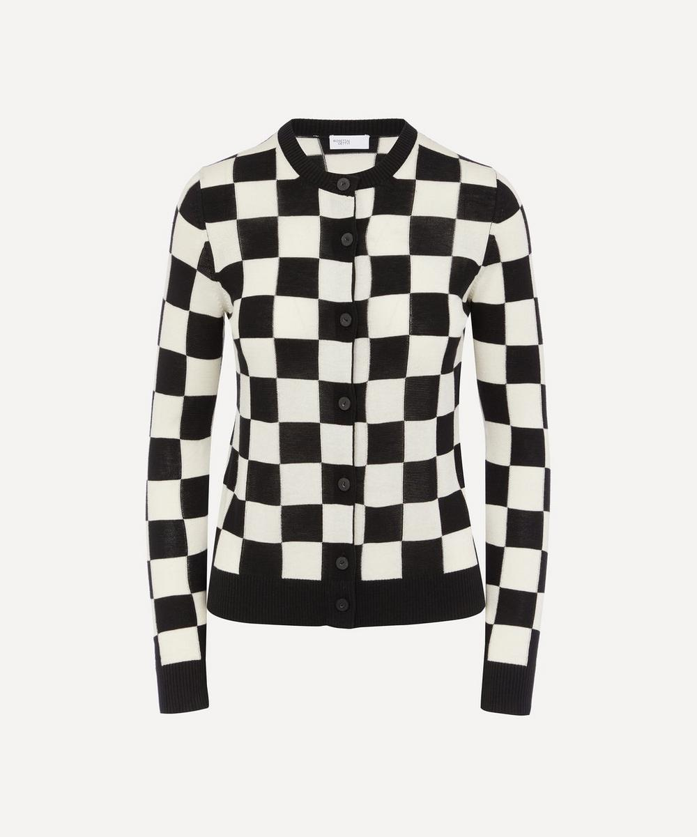 Rosetta Getty - Checkerboard Cardigan
