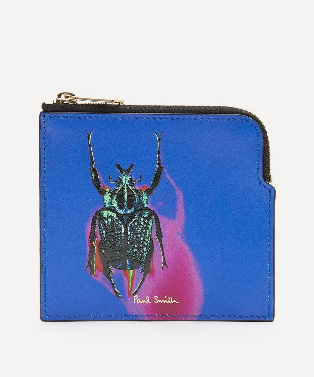 Paul Smith - Photographic Beetle Print Leather Card Pouch