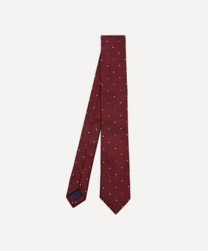 Multi-Dot Narrow Silk Tie