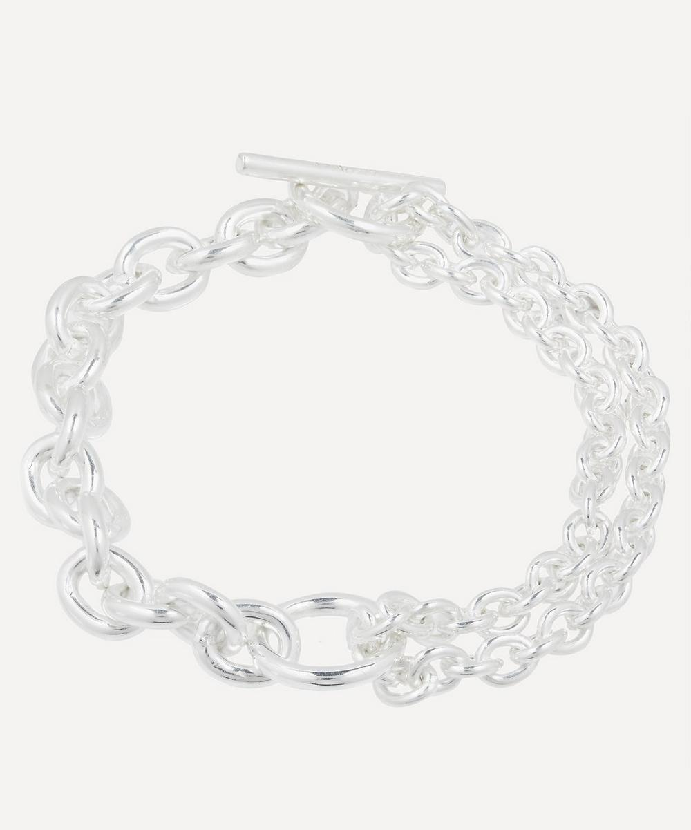 All Blues - Recycled Sterling Silver Double Chain Bracelet