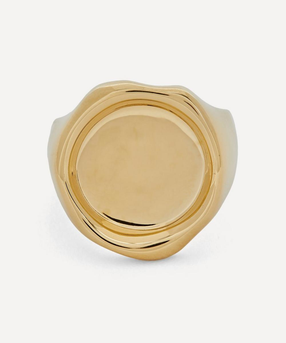All Blues - Gold Plated Vermeil Silver Sigil Ring