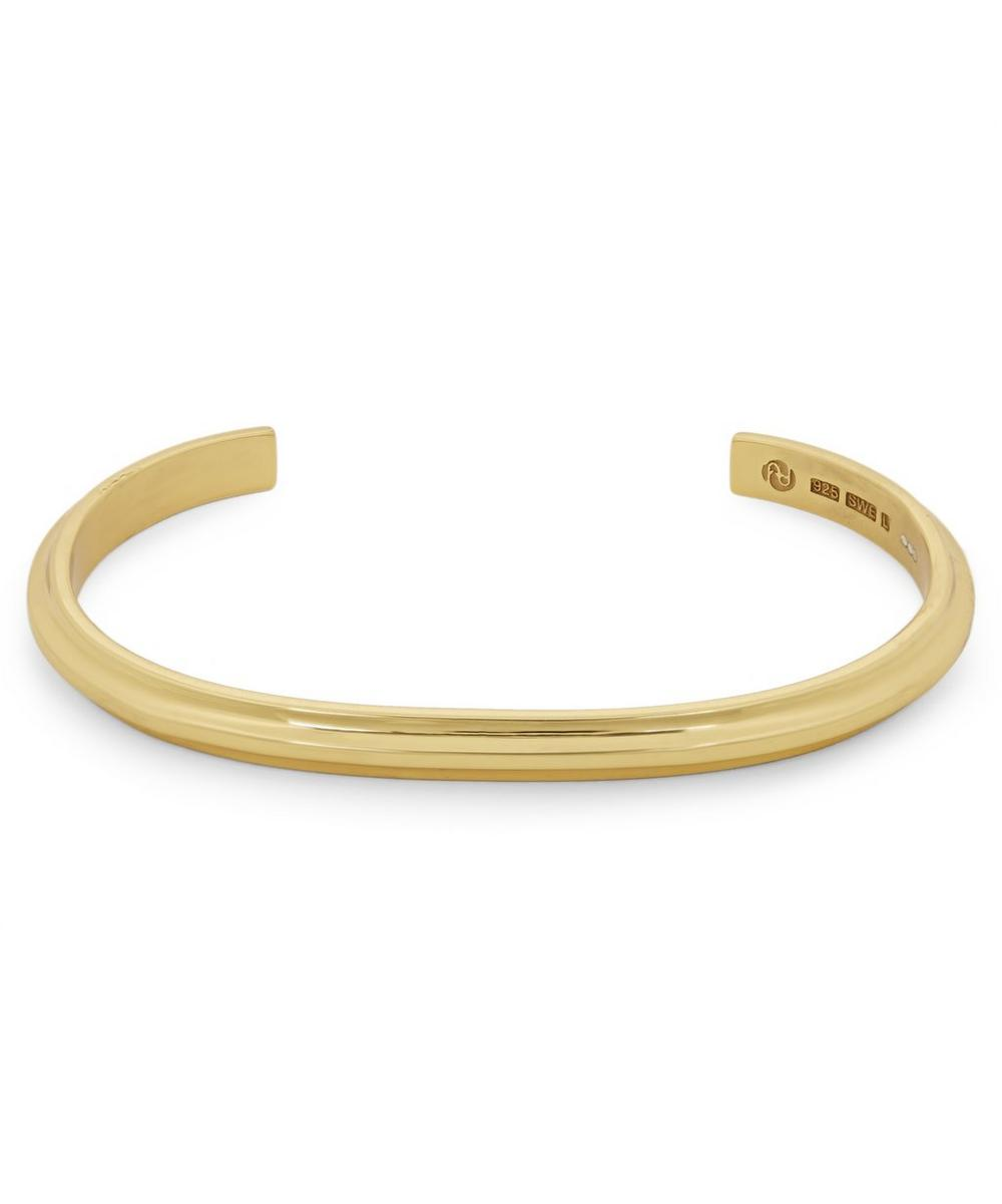 All Blues - Gold Plated Vermeil Silver T-Beam Bracelet