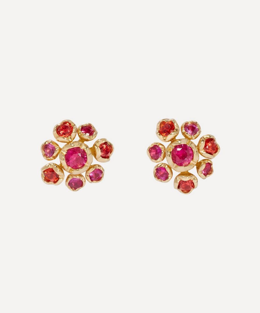 Annoushka - 18ct Gold Hidden Reef Sapphire Stud Earrings