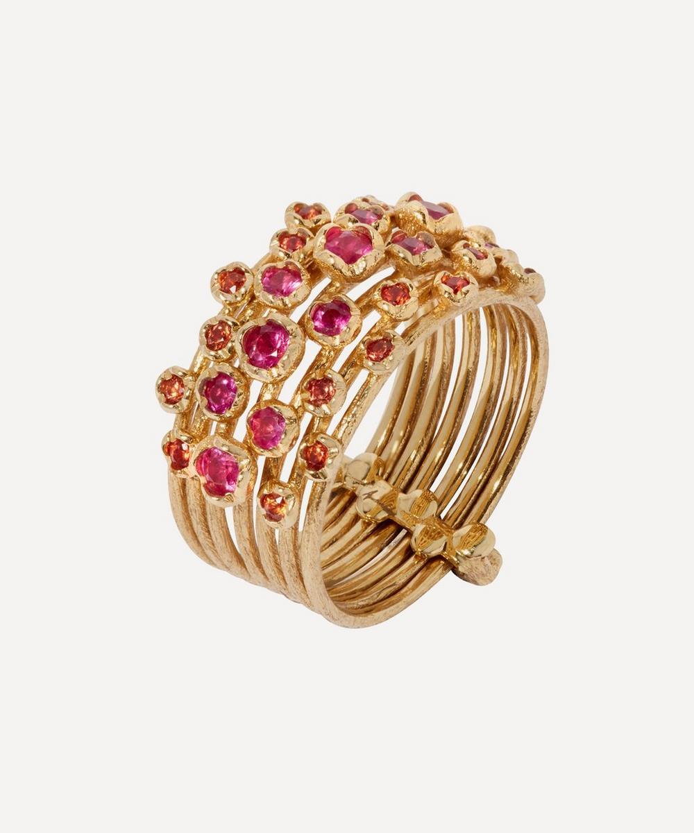 Annoushka - 18ct Gold Hidden Reef Sapphire Ring