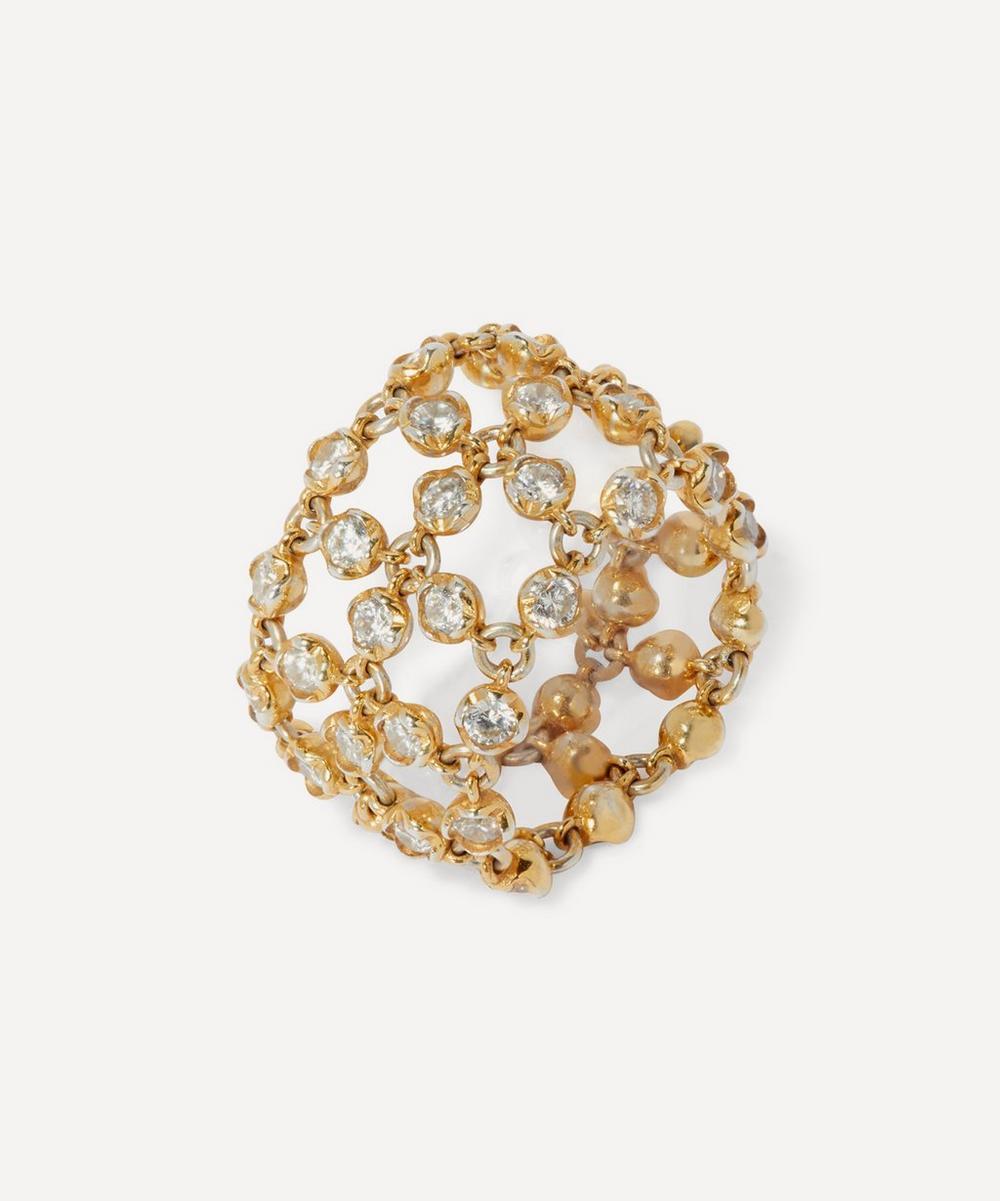 Annoushka - 18ct Gold Lattice Diamond Net Ring