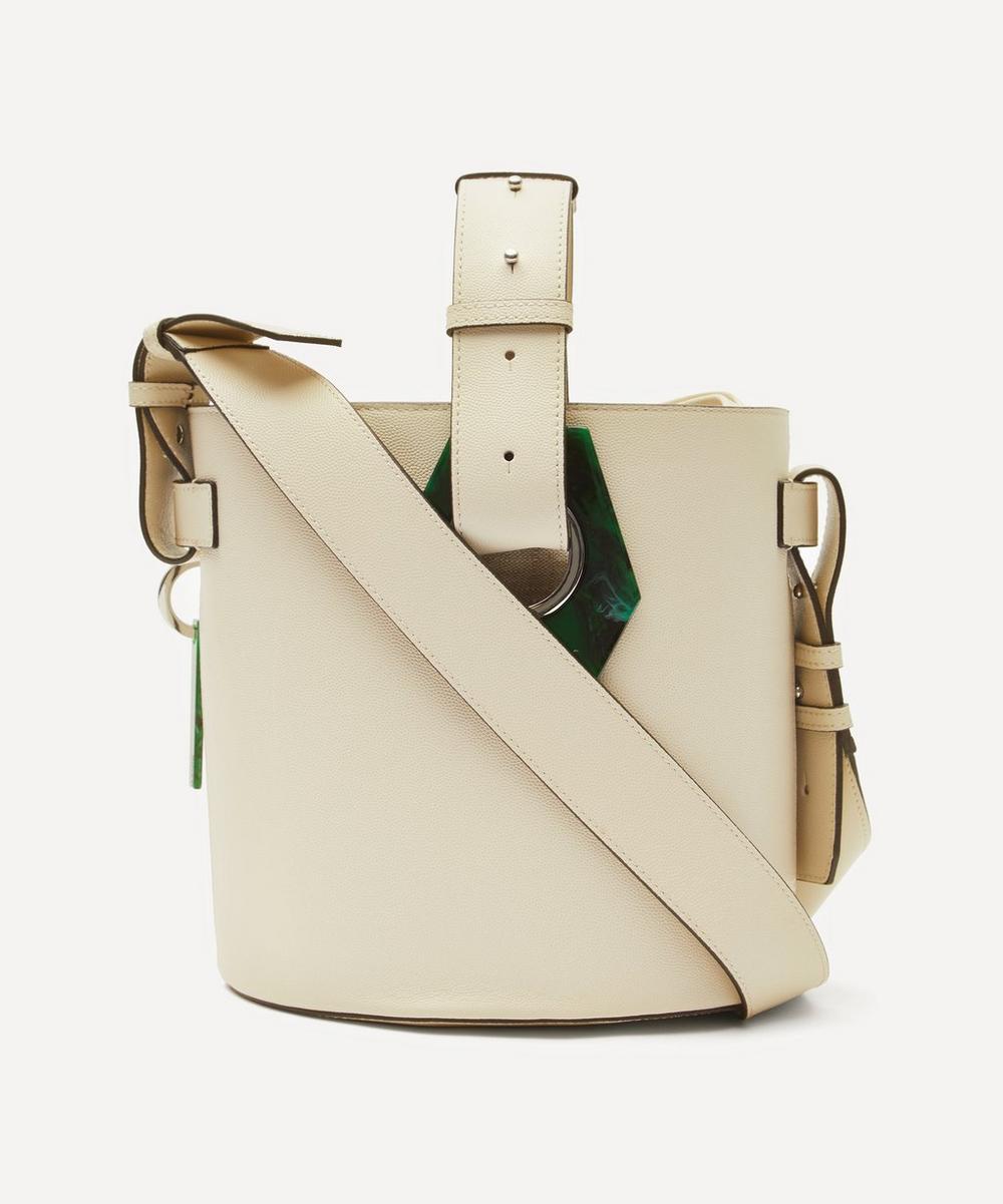 Ganni - Leather Bucket Bag